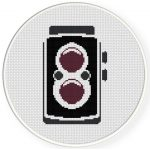 Cute Vintage Camera Cross Stitch Illustration