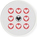 Different Love Cross Stitch Illustration