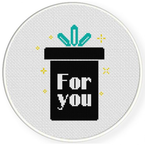For You Cross Stitch Illustration