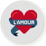 L'amour Cross Stitch Illustration