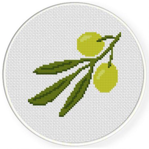 Olives Cross Stitch Illustration