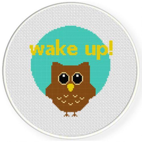 Wake Up Cross Stitch Illustration