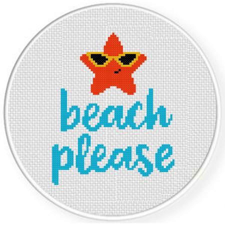 Beach Please Cross Stitch Pattern Daily Cross Stitch