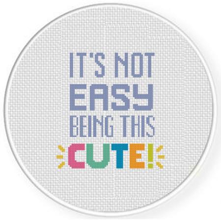 It's not Easy Cross Stitch Pattern