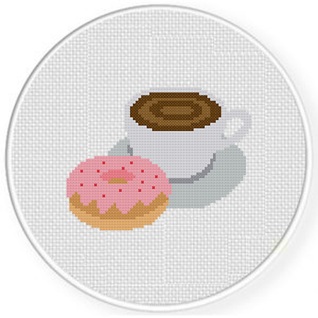 Youre the doughnut to my coffee Counted Cross Stitch Pattern